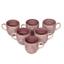 Beautiful Brown Ceramic Tea Cups Set of 6