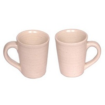 Classy White Ceramic Mugs Set of 2