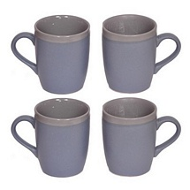 Blue Ceramic Coffee n Milk Mugs Set of 4