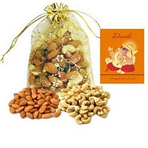 200g Mixed Dry Fruits Potali with 1 Diwali Card