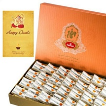 500g Haldiram's Kaju Roll with 1 Card for Diwali