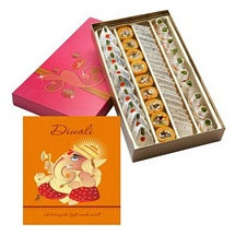 750g Mixed Diwali Sweets with 1 Diwali Card