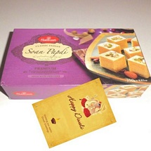 Haldiram's Soan Papdi 250g Pack with 1 Diwali Card