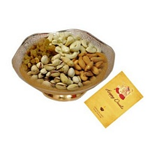 Gold & Silver PlatedBowl with Dryfruits