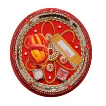 Designer Pooja Thali Set with Incense Sticks