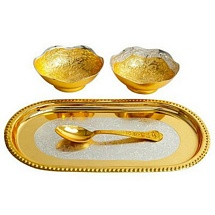 Gold Plated Bowls Set for Diwali and Dhanteras Gift