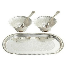 Silver Plated Bowls Set for Diwali and Dhanteras Gift