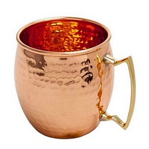 Pure Copper Mug with Brass Handle for Diwali and Dhanteras