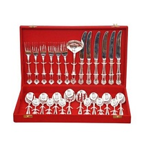 Silver Plated Flatware Cutlery Set of 27 Pcs