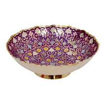 Purple Meenakari Brass Bowl