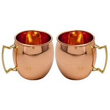 2 Pcs Moscow Mule Vodka Buck Drinkware Copper Mugs