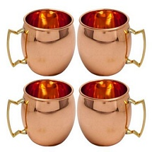 4 Pcs Moscow Mule Vodka Buck Drinkware Copper Mugs