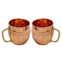 Moscow Mule Vodka Drinkware Copper Mugs Set of 2