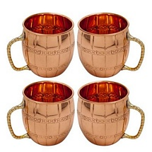 Moscow Mule Vodka Drinkware Copper Mugs Set of 4
