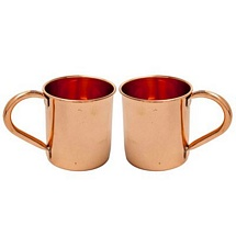 100 % Pure Copper Mugs Set of 2