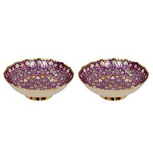 Purple Meenakari Brass Bowls Set of 2