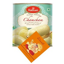 Haldiram's Cham Cham with 1 Diwali Card