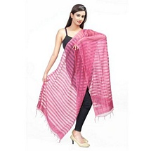 Pink Stripped Fancy Dupatta