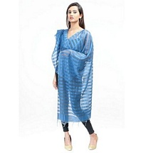 Sky Blue Stripped Fancy Dupatta
