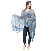 Blue Checkered Fancy Dupatta