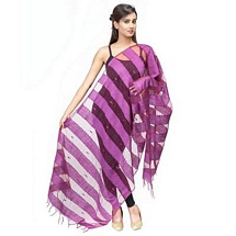 Purple Big Stripped Fancy Dupatta