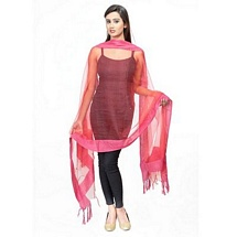 Pink Solid Fancy Dupatta