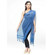 Royal Blue Small Stripped Fancy Dupatta