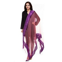 Purple Solid Dupatta