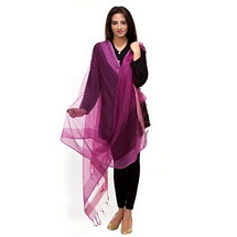 Purple Small Striped Fancy Dupatta