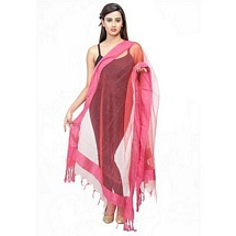 comfortable n stylish Pink Solid Fancy Dupatta - Set of Two