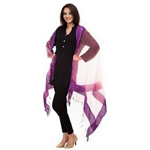 Purple Solid Dupatta - Set of Two