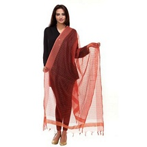 Red Small Stripped Fancy Dupatta - Set of Two