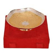 Gold & Silver Plated Brass Utility Bowl