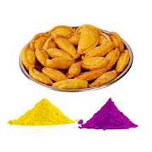 Gulal and Gujiya for Holi