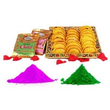 Holi Gujiya and Gulal