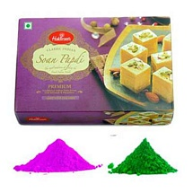 Holi Color with Soan Papdi