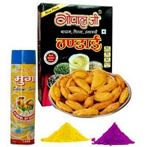 Holi Sweets and Drink Combo