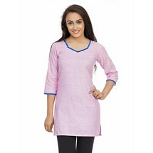 Elite Pink Color Cotton Kurti