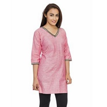 Elite Cotton Pink Color Kurti