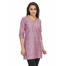 Elite Purple Color Cotton Kurti