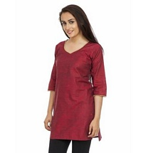Elite Maroon Color Cotton Kurti