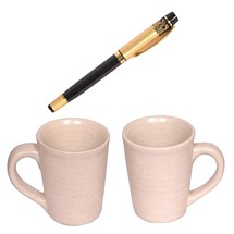 Premium Pen and White Mugs Combo