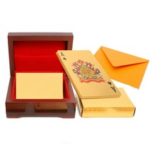 Golden Playing Card with Case