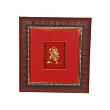 24 K Gold Plated Leaf Ganesh Frame