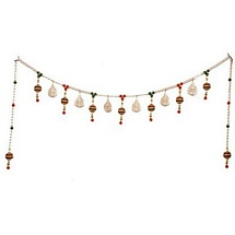Premium Silver Color Toran with Pearl and Beads for Diwali Decoration