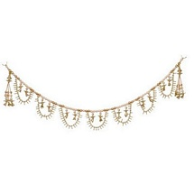 Pearls and Golden Beads Exclusive Latkan for Diwali Decoration