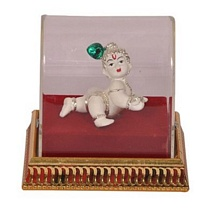 Silver Plated White Laddu Gopal Showpiece