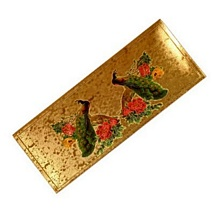 Peacock Gold Plated Envelope Set of 5