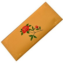 Rose Flower Gold Plated Envelope Set Of 5