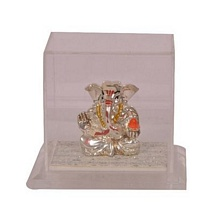 Silver Plated Ganpati in Beautiful Case